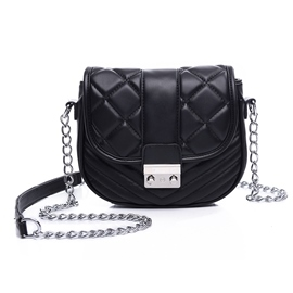 Ericdress Leisure Plaid Saddle Crossbody Bag