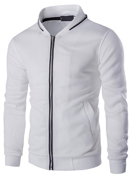 Ericdress Stand Collar Zip Casual Men's Hoodie