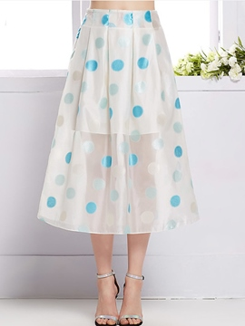 Ericdress Sweet Polka Dots Skirt