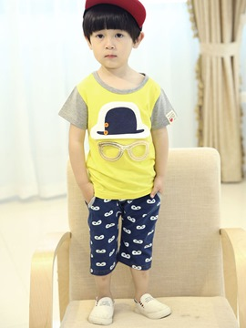 Ericdress Cartoon Hat-Shaped Baby Boy's Summer Outfits