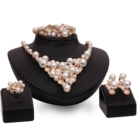 Ericdress Charming Pearls Inlaid Jewelry Set