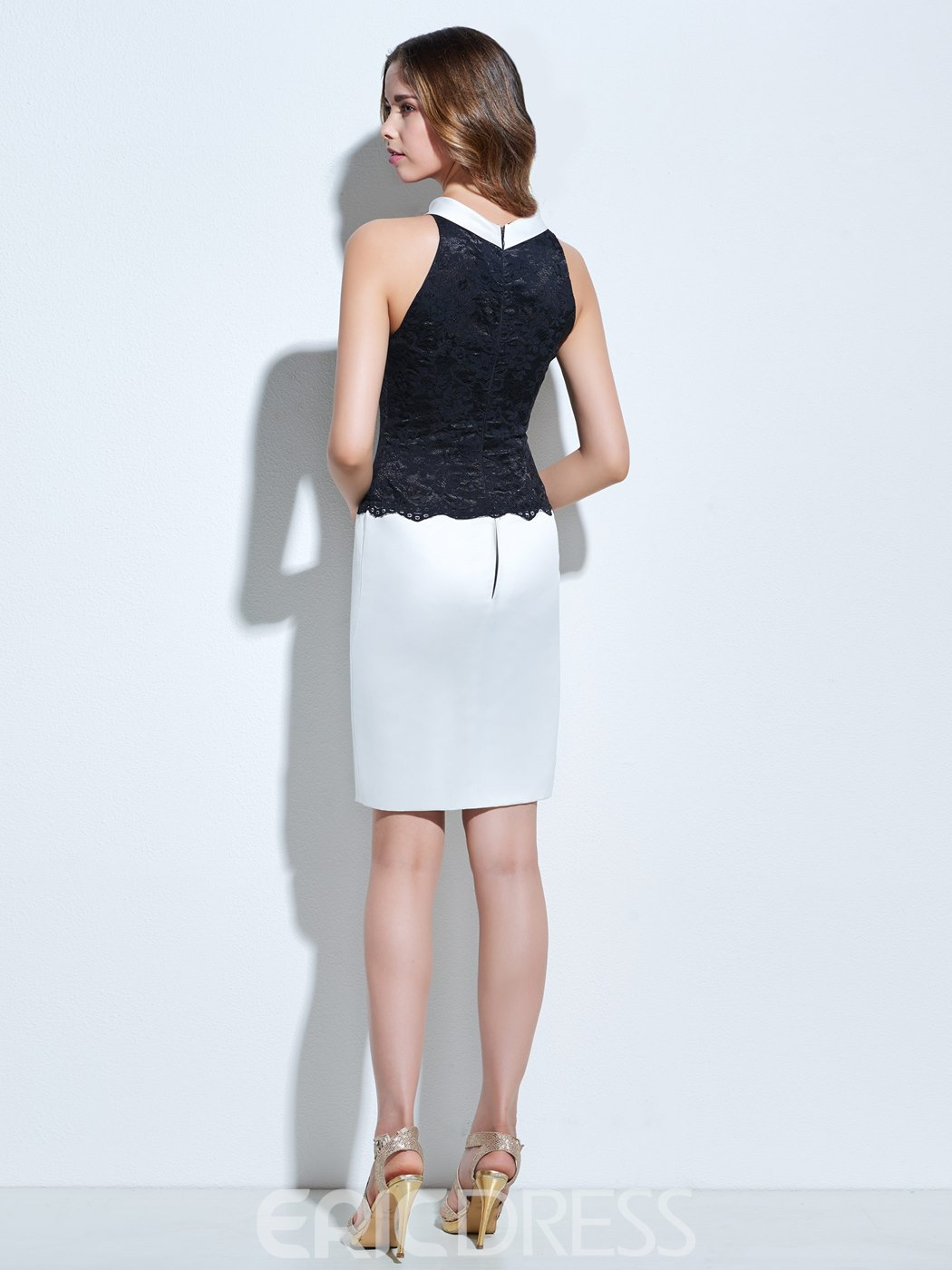 Ericdress Scoop Sheath Lace Knee-Length Cocktail Dress