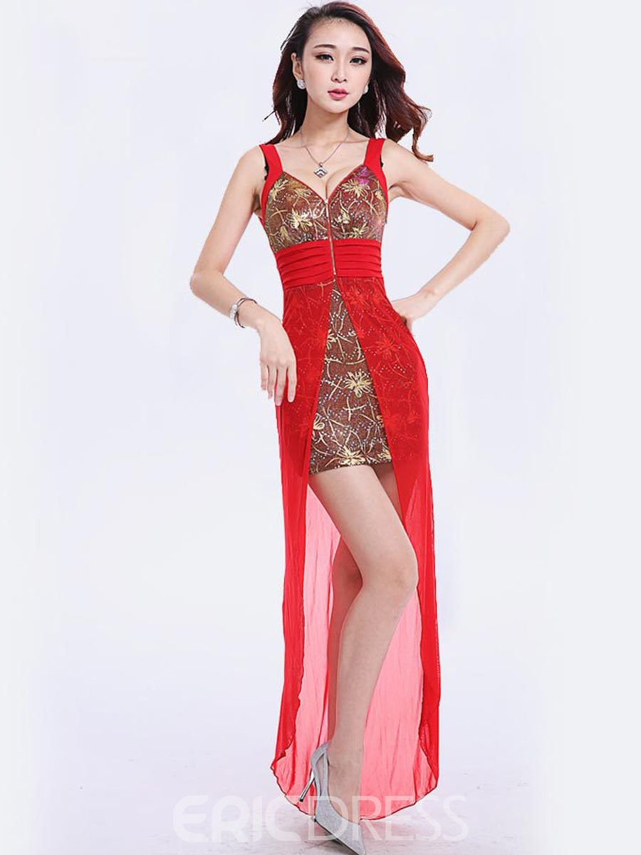 Ericdress Patchwork Iregular Vogue Sexy Clubwear