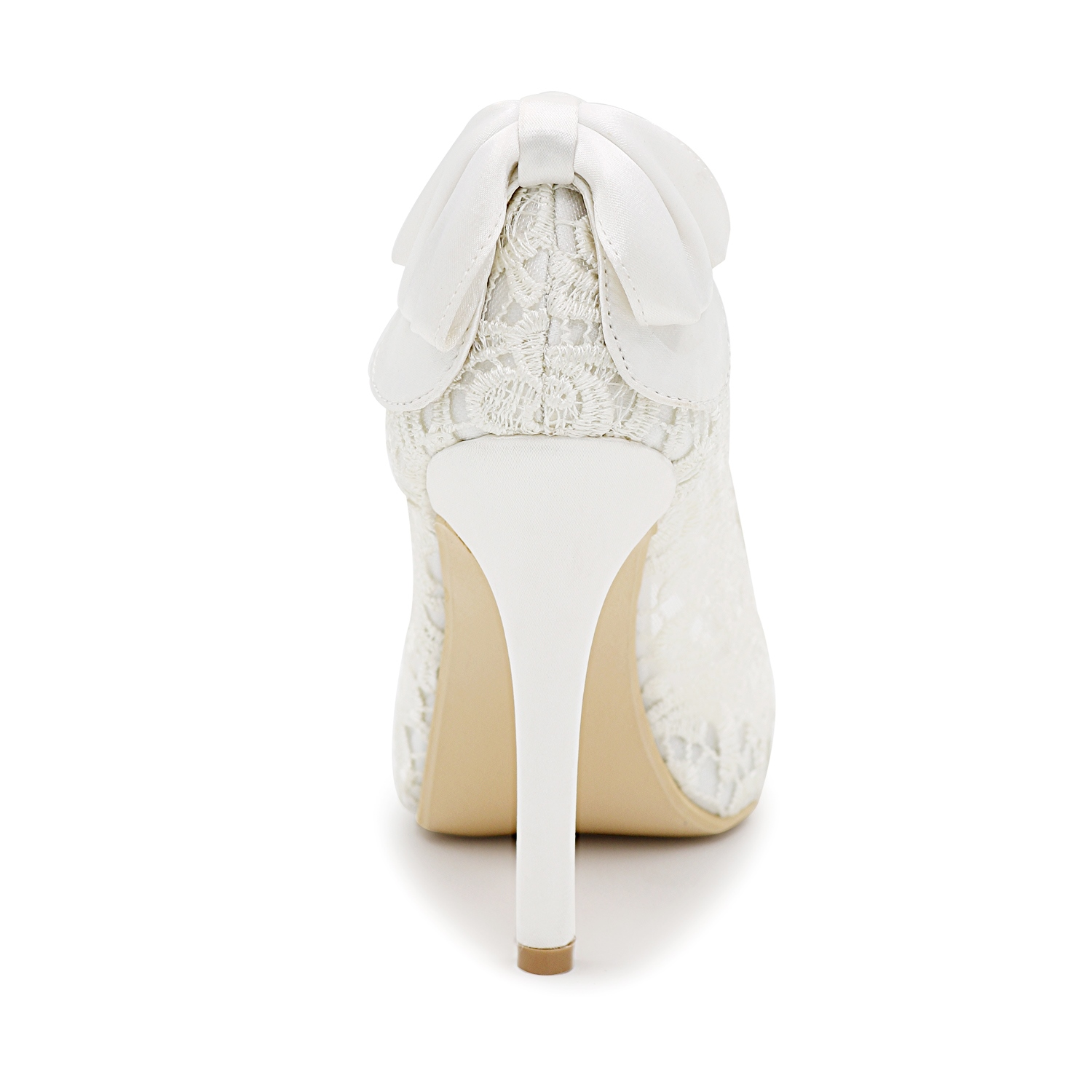 Ericdress Charming Lace Back Bowtie Wedding Shoes