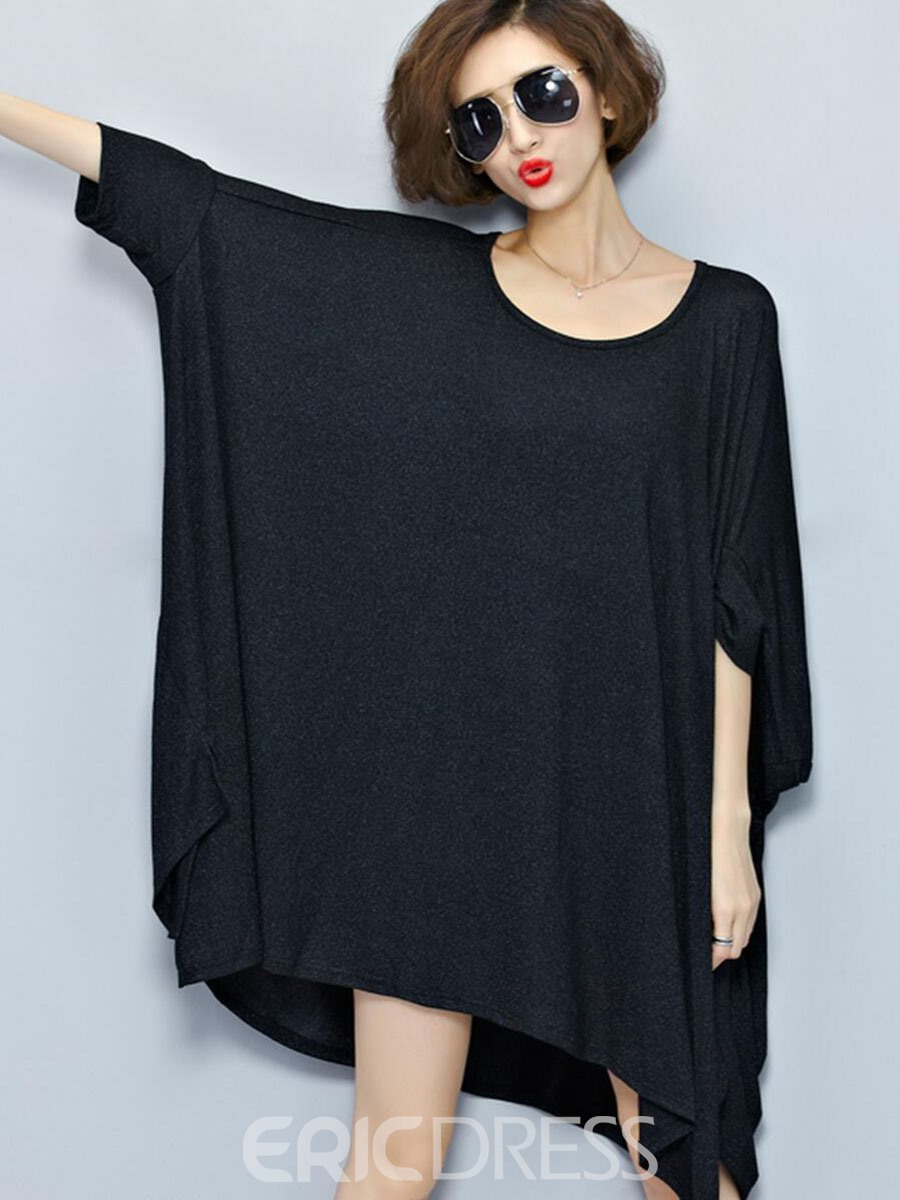 Ericdress Solid Color Loose Casual Dress