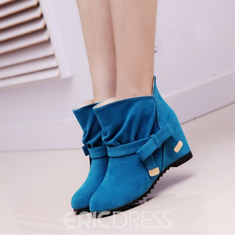 great variety styles outlet store sale exclusive deals Ericdress Bright Bowtie Ankle Boots