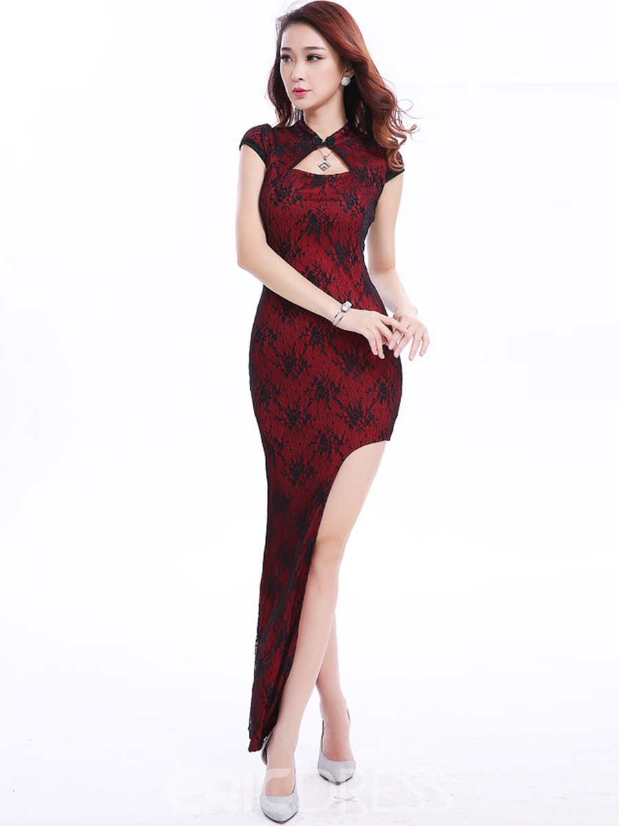 Ericdress Length Lace Patchwork Iregular Sexy Clubwear