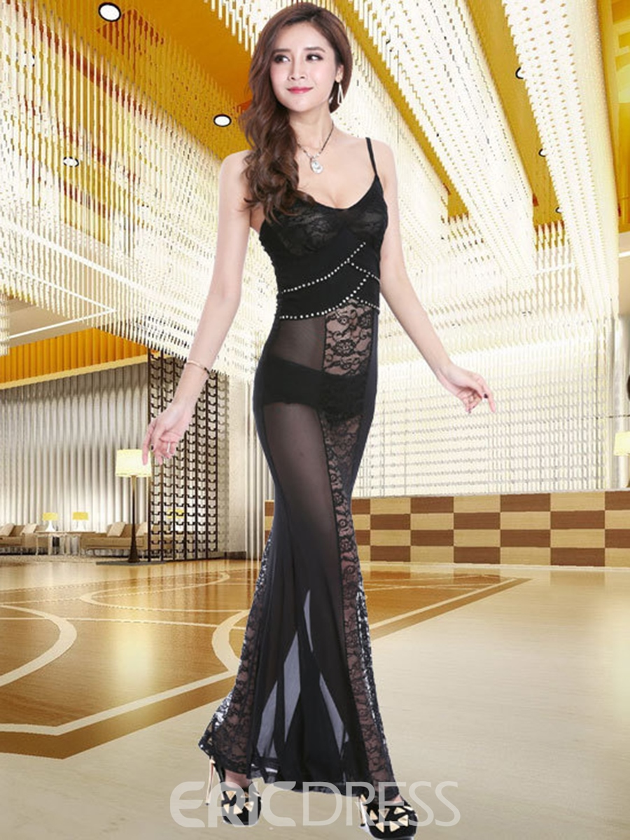 Ericdress Lace Patchwork Diamonds Sexy Clubwear