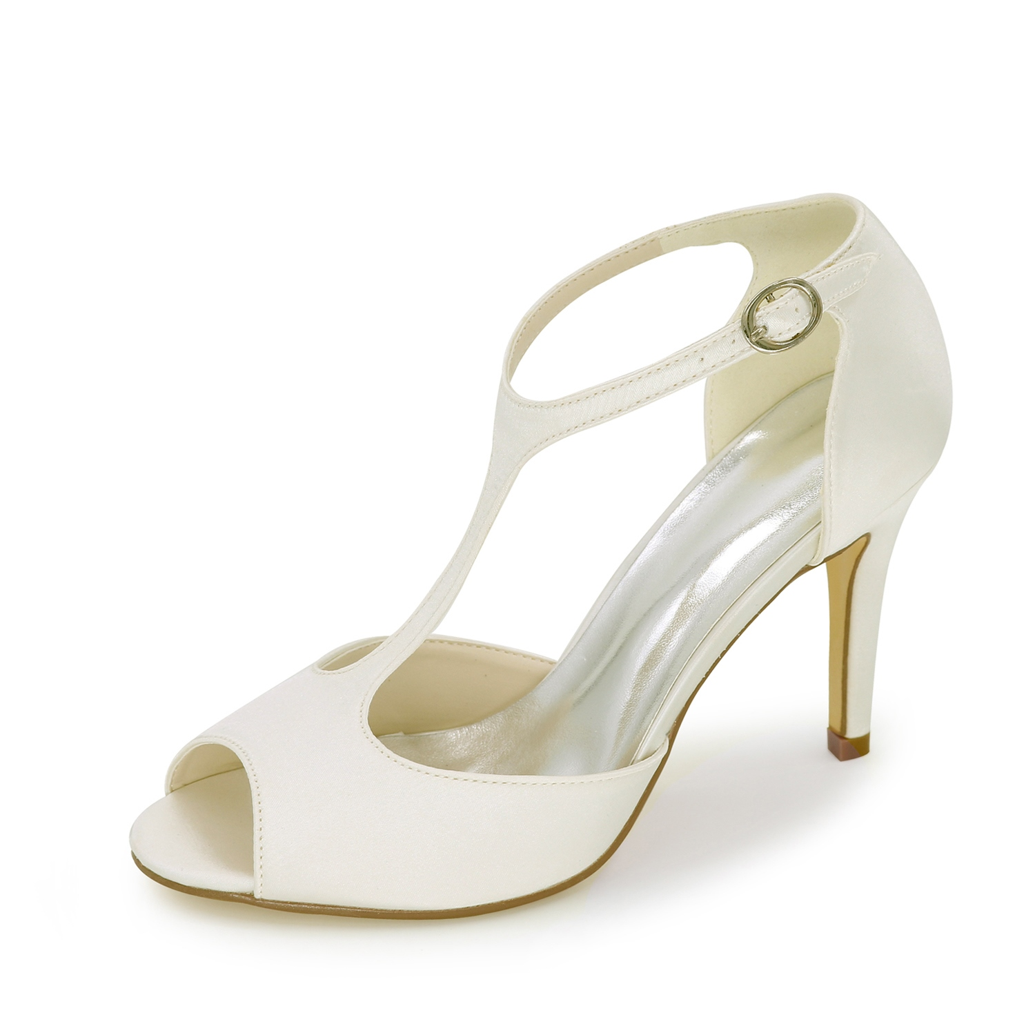 Ericdress Elegant T Strap Peep Toe Wedding Shoes 12220443