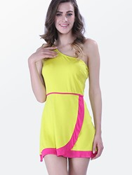 Image of Ericdress Asymmetric Color Block Above Knee Casual Dress