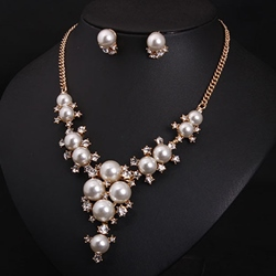 Ericdress Graceful Pearl Flowers Jewelry Set