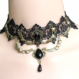 Ericdress Retro Black Lace Necklace