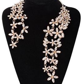 Ericdress Graceful Flowers Rhinestone Necklace