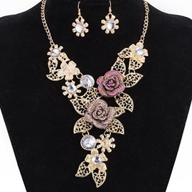 Ericdress Beautiful Rose Decorated Jewelry Set