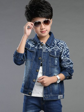 Ericdress Boys Denim Jacket