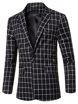 Ericdress One Button Vogue Slim Men's Blazer