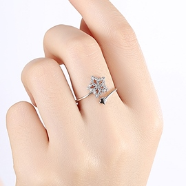 Ericdress Five-Pointed Star Zircon Ring