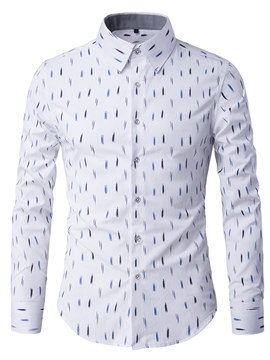 Ericdress Anti Wrinkle Vogue Print Slim Men's Shirt