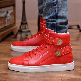 Ericdress Lace-Up Velcro High-Cut Upper Men's Sneakers