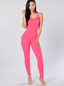 Ericdress Skinny Spaghetti Straps Jumpsuits Pants