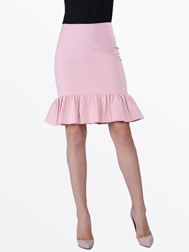 Ericdress Solid Color Mermaid Column Skirt