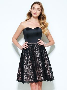 Ericdress A-Line Sweetheart Beading Lace Short Homecoming Dress