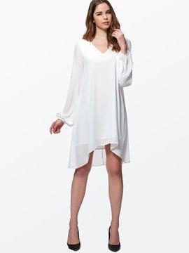 Ericdress Sexy Shoulder Cut Casual Dress