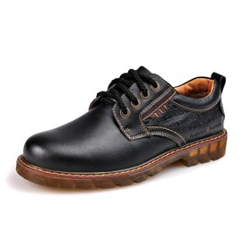 Ericdress Round Toe Patent Leather Men's Oxfords