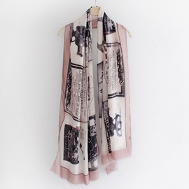 Ericdress Old Film Print Cotton Scarf
