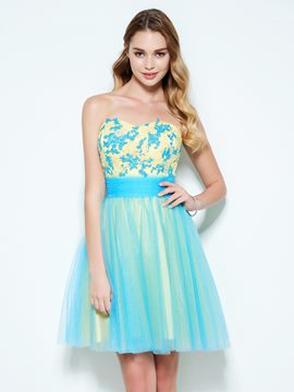 Ericdress a-line Schatz Applikationen Mini Homecoming Kleid