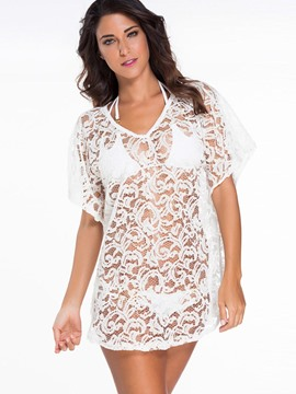 Ericdress White Lace Vogue Cover-Up