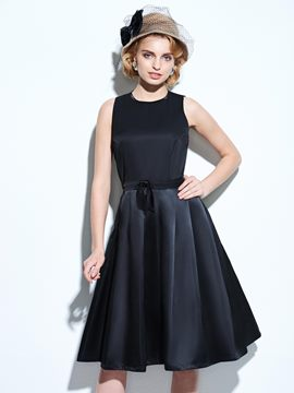 Ericdress Hollow Vintage Little Black Dress