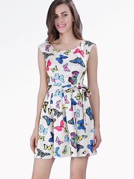 Ericdress Butterfly Pattern Print Casual Dress