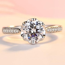 Ericdress Concise Zircon Wedding Ring