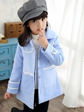 Ericdress Lapel Girls Coat