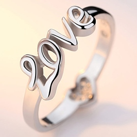 Ericdress Romantic 925 Silver Love Ring