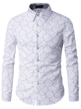 Ericdress Vogue Print Long Sleeve Men's Shirt