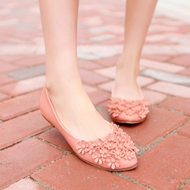 Ericdress Bright Applique Round Toe Flats