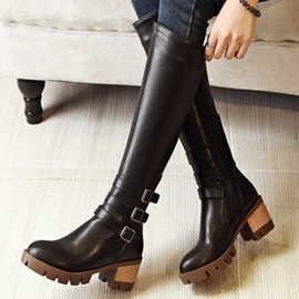 Ericdress Vintage boucles Knee High bottes