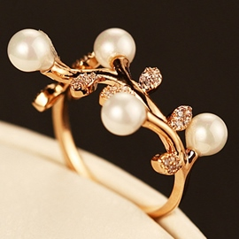 Ericdress Pearl Branch Design Ring