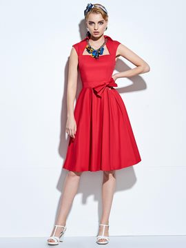 Ericdress Rockabilly Style A-Line Sleeveless A Line Dress