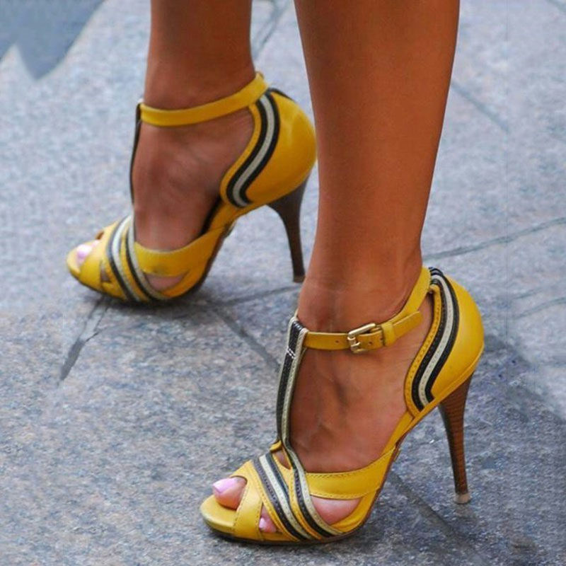 Ericdress_Patchwork_T_Strap_Peep_Toe_Stiletto_Sandals