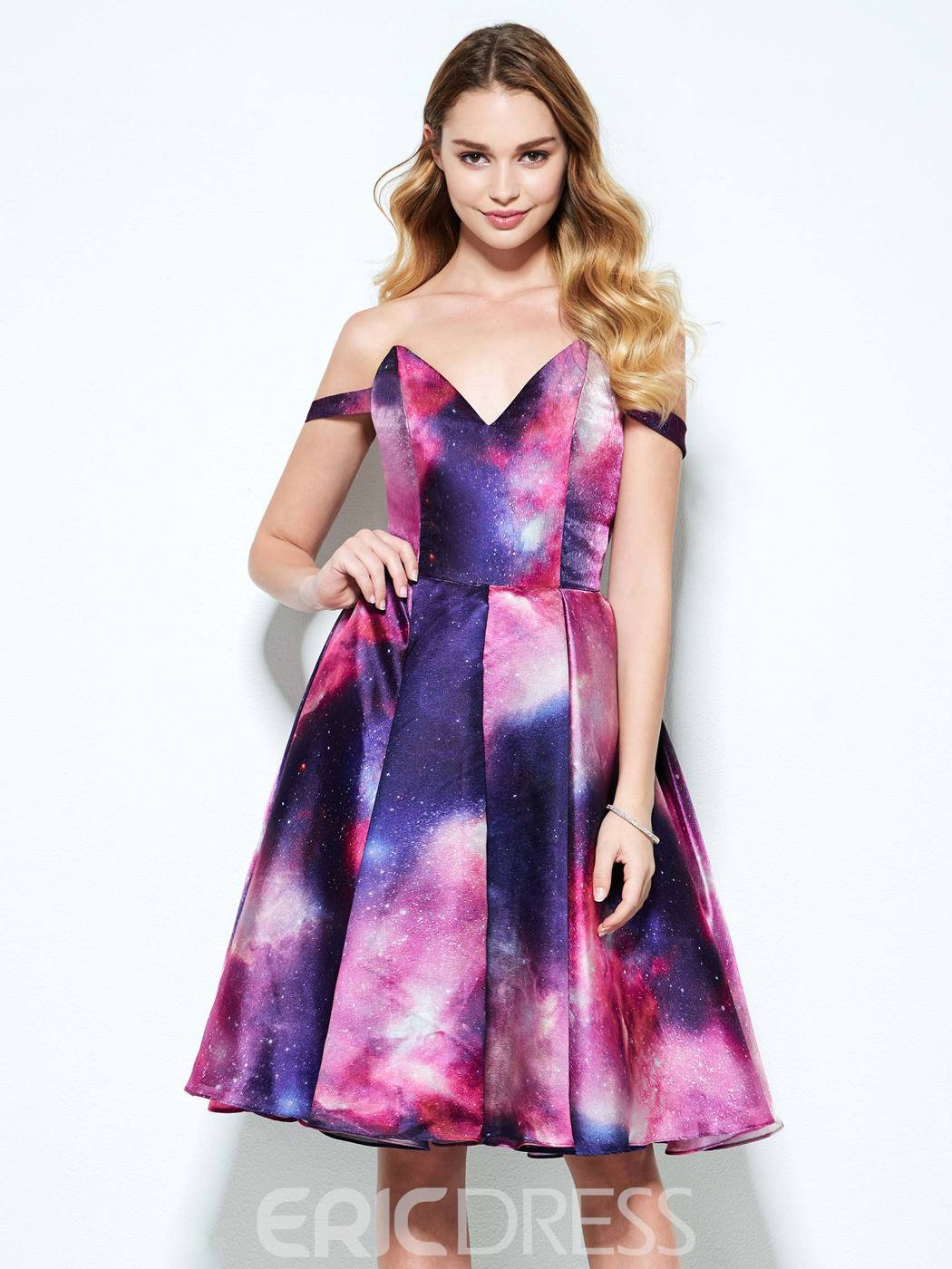 Ericdress a-ligne v-cou Appliques perlant mi-longues Homecoming robe