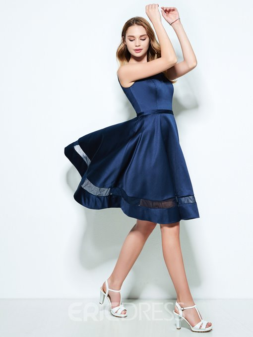 Ericdress A-Line Scoop Hollow Knee-Length Homecoming Dress