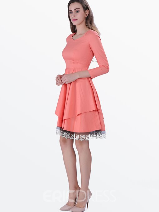 Ericdress Elegant Asymmetric A Line Dress