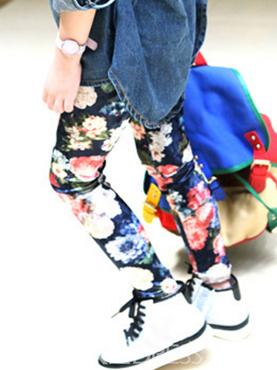 Ericdress Floral Printed Girls Bottoms