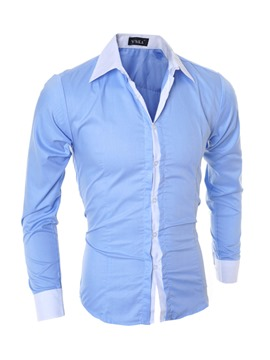 Ericdress Patchwork Single-Breasted Fall Men's Shirt