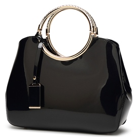 Ericdress Stereotype Shiny Patent Leather Handbag