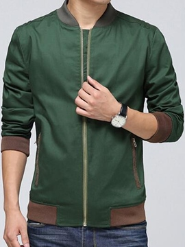 Ericdress Zip Casual Slim Men's Jacket