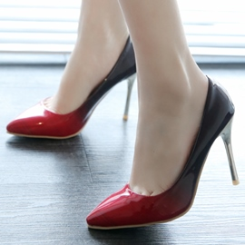 Ericdress Charming Colorblock Point Toe Pumps